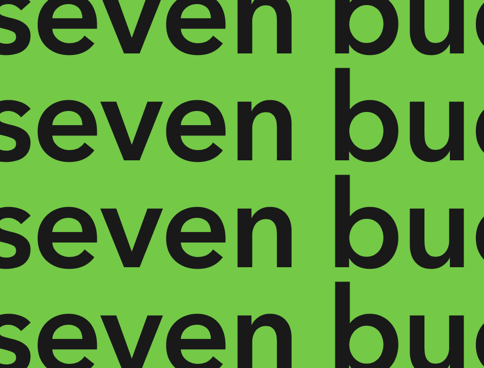 Seven Bucks image